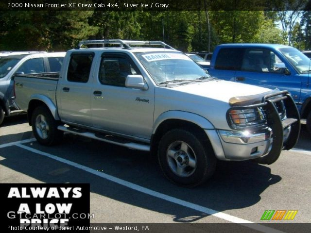 silver ice 2000 nissan frontier xe crew cab 4x4 gray. Black Bedroom Furniture Sets. Home Design Ideas