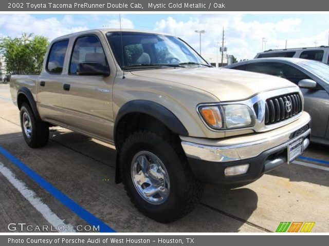mystic gold metallic 2002 toyota tacoma prerunner double cab oak interior. Black Bedroom Furniture Sets. Home Design Ideas