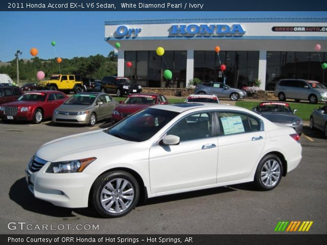 white diamond pearl 2011 honda accord ex l v6 sedan. Black Bedroom Furniture Sets. Home Design Ideas