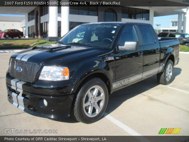 black 2007 ford f150 roush 500rc supercrew 4x4 black red interior vehicle. Black Bedroom Furniture Sets. Home Design Ideas