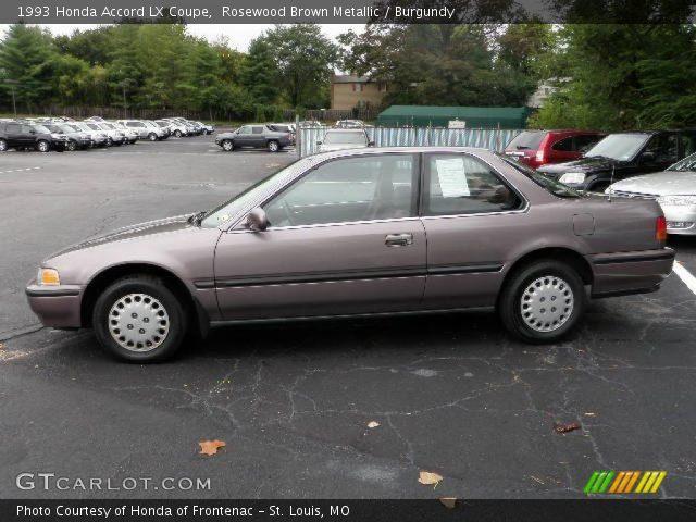 1993 Honda Accord LX Coupe in Rosewood Brown Metallic