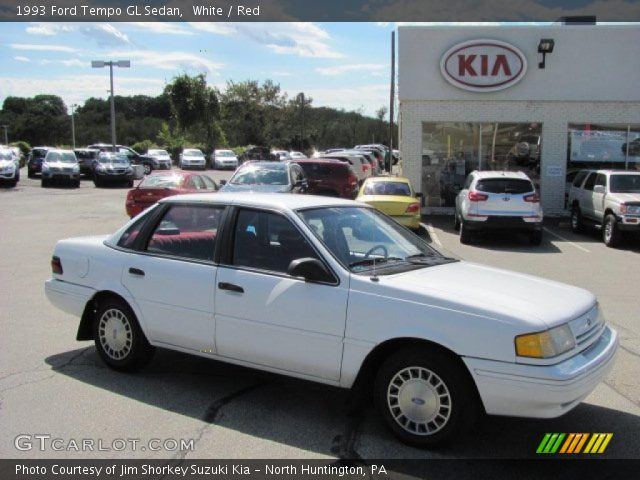 white 1993 ford tempo gl sedan red interior gtcarlot. Black Bedroom Furniture Sets. Home Design Ideas