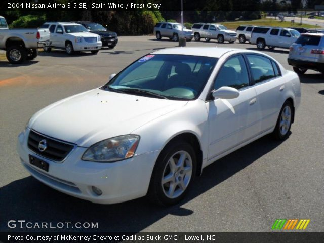 Satin White 2004 Nissan Altima 35 Se Frost Gray Interior