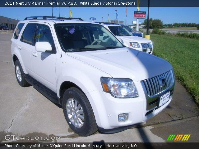2011 Mercury Mariner Premier V6 AWD in White Suede