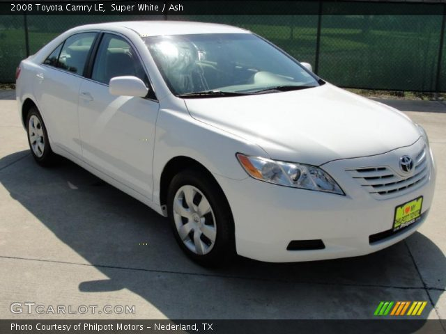 super white 2008 toyota camry le ash interior vehicle archive 36406421. Black Bedroom Furniture Sets. Home Design Ideas