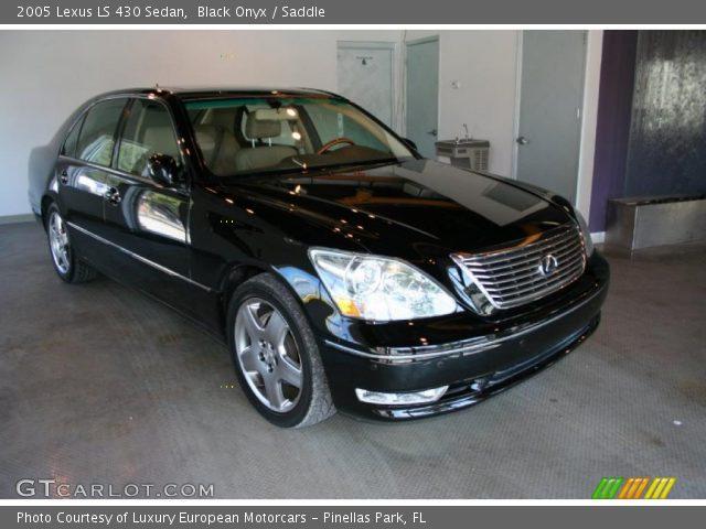 black onyx 2005 lexus ls 430 sedan saddle interior. Black Bedroom Furniture Sets. Home Design Ideas