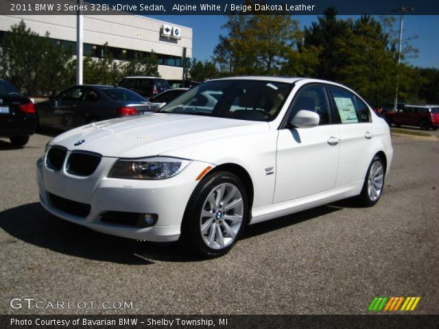 alpine white 2011 bmw 3 series 328i xdrive sedan beige dakota leather interior gtcarlot. Black Bedroom Furniture Sets. Home Design Ideas