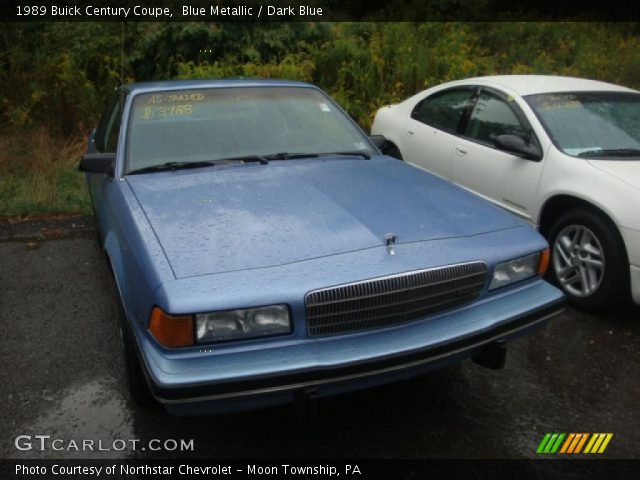 1989 Buick Century Coupe in Blue Metallic. Click to see large photo.