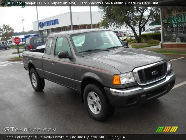 dark shadow grey metallic 2004 ford ranger xlt sst supercab 4x4 medium dark flint interior. Black Bedroom Furniture Sets. Home Design Ideas