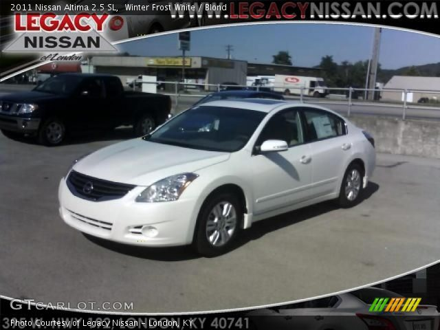 2011 Nissan Altima 2.5 SL in Winter Frost White. Click to see large ...