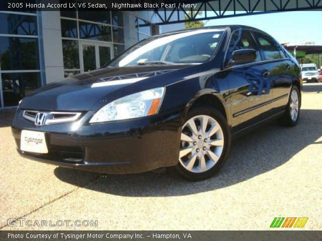 nighthawk black pearl 2005 honda accord lx v6 sedan ivory interior vehicle. Black Bedroom Furniture Sets. Home Design Ideas