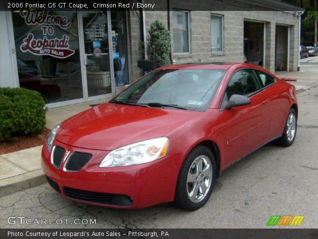 crimson red 2006 pontiac g6 gt coupe ebony interior. Black Bedroom Furniture Sets. Home Design Ideas