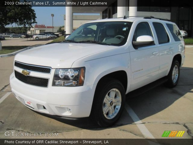 summit white 2009 chevrolet tahoe lt light cashmere. Black Bedroom Furniture Sets. Home Design Ideas