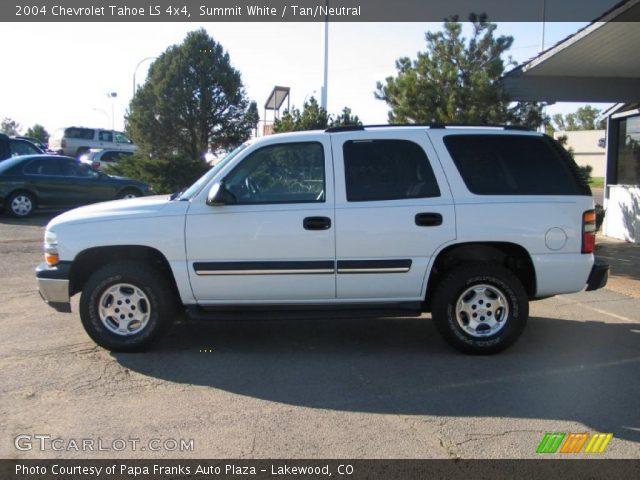 Summit White 2004 Chevrolet Tahoe Ls 4x4 Tan Neutral Interior Gtcarlot Com Vehicle Archive 36623456