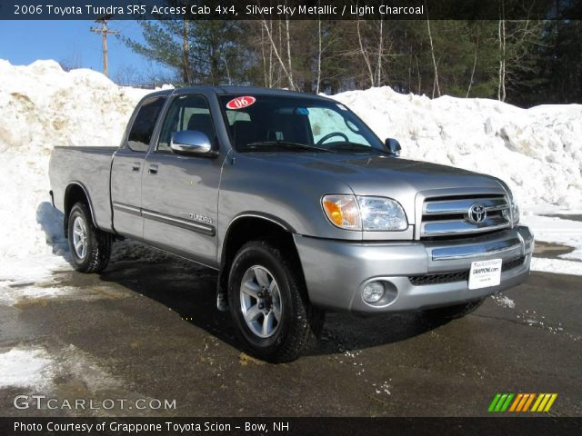 silver sky metallic 2006 toyota tundra sr5 access cab 4x4 light charcoal interior gtcarlot. Black Bedroom Furniture Sets. Home Design Ideas