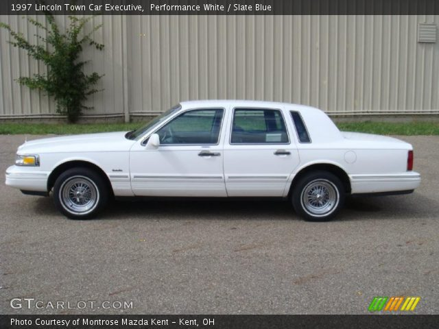 Performance White 1997 Lincoln Town Car Executive Slate Blue