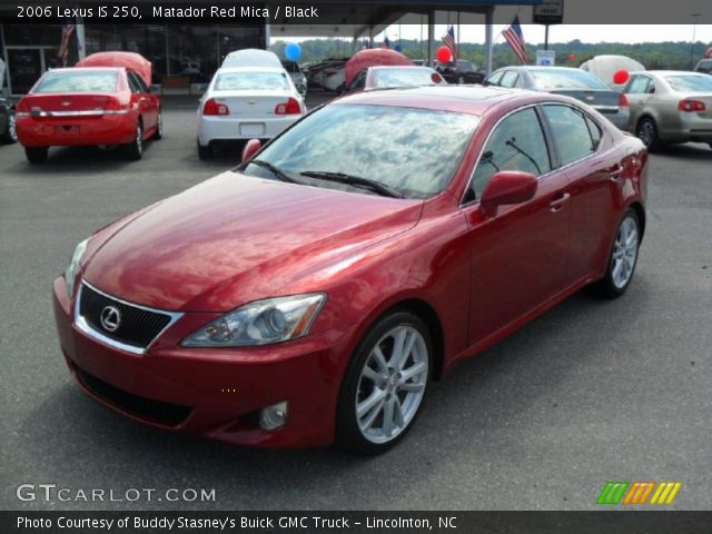 Matador Red Mica 2006 Lexus Is 250 Black Interior Vehicle Archive 36712263