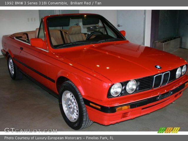 brilliant red 1992 bmw 3 series 318i convertible tan interior gtcarlot com vehicle archive 36712386 gtcarlot com
