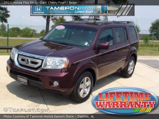 2010 Honda Pilot EX-L in Dark Cherry Pearl