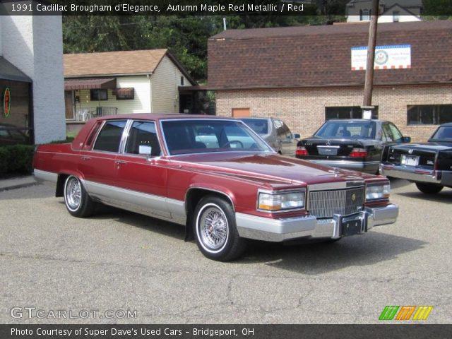 1991 Cadillac Brougham d'Elegance in Autumn Maple Red Metallic