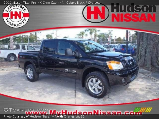 galaxy black 2011 nissan titan pro 4x crew cab 4x4 charcoal interior. Black Bedroom Furniture Sets. Home Design Ideas