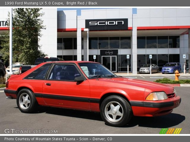 1990 Ford Mustang LX 5.0 Coupe in Bright Red