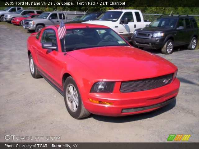 torch red 2005 ford mustang v6 deluxe coupe dark. Black Bedroom Furniture Sets. Home Design Ideas