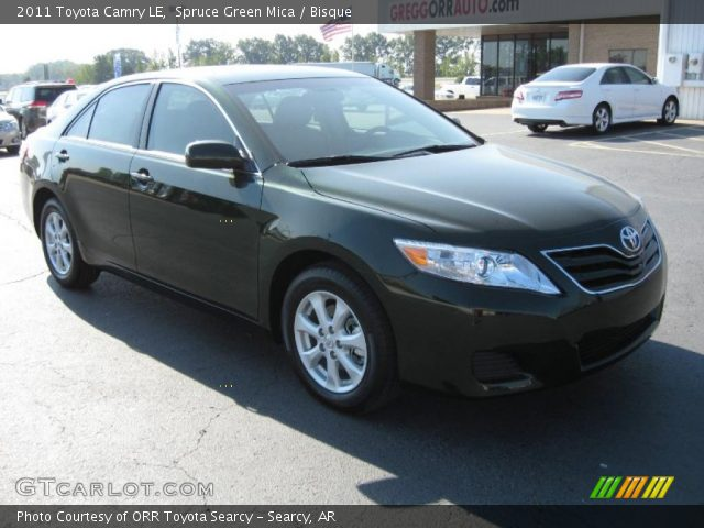 2011 Toyota Camry LE in Spruce Green Mica