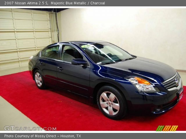 majestic blue metallic 2007 nissan altima 2 5 s charcoal interior vehicle. Black Bedroom Furniture Sets. Home Design Ideas