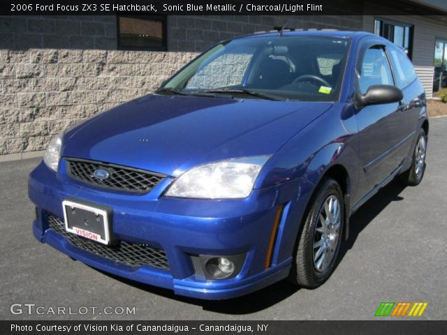 sonic blue metallic 2006 ford focus zx3 se hatchback. Black Bedroom Furniture Sets. Home Design Ideas