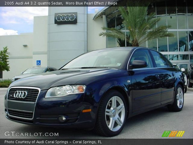 moro blue pearl effect 2005 audi a4 3 2 quattro sedan beige interior. Black Bedroom Furniture Sets. Home Design Ideas
