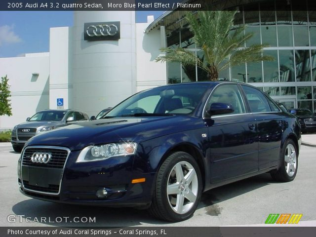 moro blue pearl effect 2005 audi a4 3 2 quattro sedan platinum interior. Black Bedroom Furniture Sets. Home Design Ideas