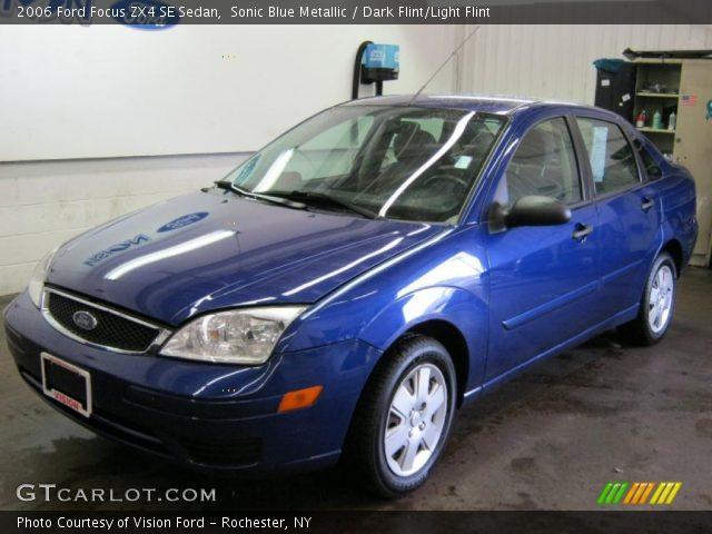 sonic blue metallic 2006 ford focus zx4 se sedan dark. Black Bedroom Furniture Sets. Home Design Ideas