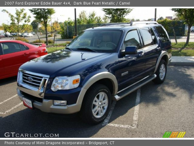 dark blue pearl metallic 2007 ford explorer eddie bauer 4x4 camel interior. Black Bedroom Furniture Sets. Home Design Ideas