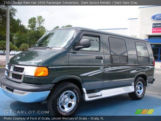 2003 Dodge Ram Van 1500 Passenger Conversion In Dark Spruce Metallic