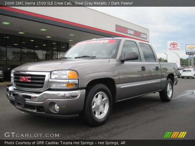 steel gray metallic 2006 gmc sierra 1500 sle crew cab dark pewter interior. Black Bedroom Furniture Sets. Home Design Ideas