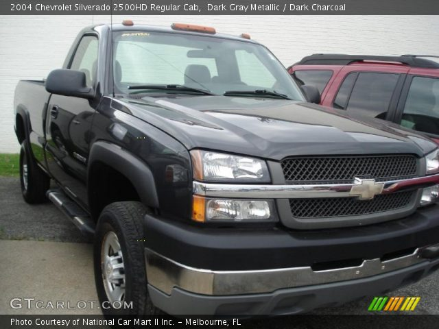 dark gray metallic 2004 chevrolet silverado 2500hd regular cab dark charcoal interior. Black Bedroom Furniture Sets. Home Design Ideas