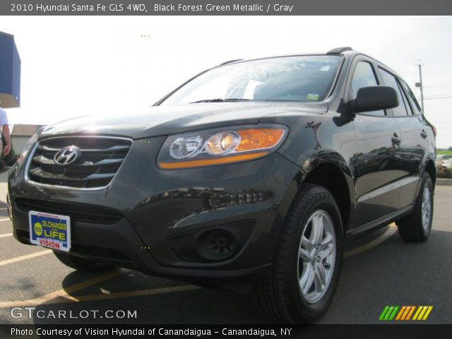 black forest green metallic 2010 hyundai santa fe gls 4wd gray interior. Black Bedroom Furniture Sets. Home Design Ideas