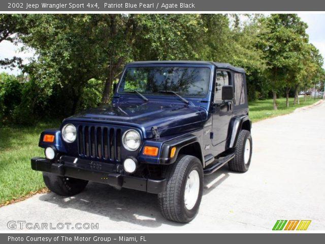 patriot blue pearl 2002 jeep wrangler sport 4x4 agate. Black Bedroom Furniture Sets. Home Design Ideas