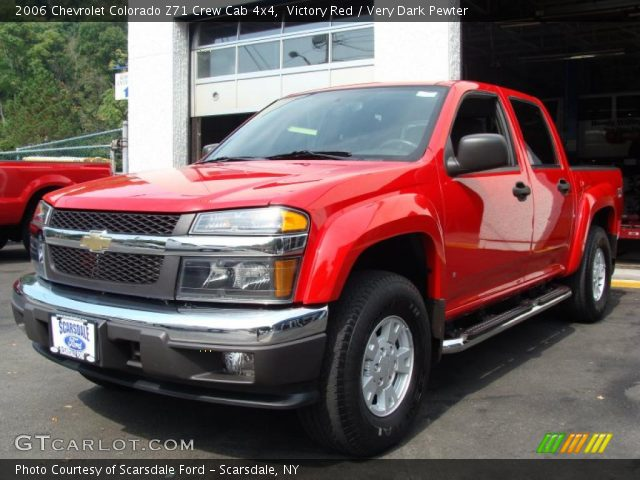 victory red 2006 chevrolet colorado z71 crew cab 4x4 very dark pewter interior gtcarlot. Black Bedroom Furniture Sets. Home Design Ideas