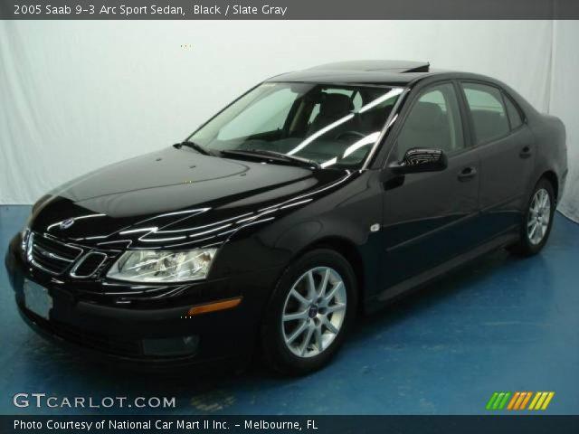 black 2005 saab 9 3 arc sport sedan slate gray interior vehicle archive. Black Bedroom Furniture Sets. Home Design Ideas