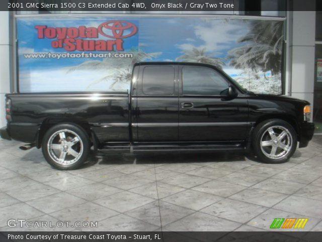 2001 GMC Sierra 1500 C3 Extended Cab 4WD in Onyx Black