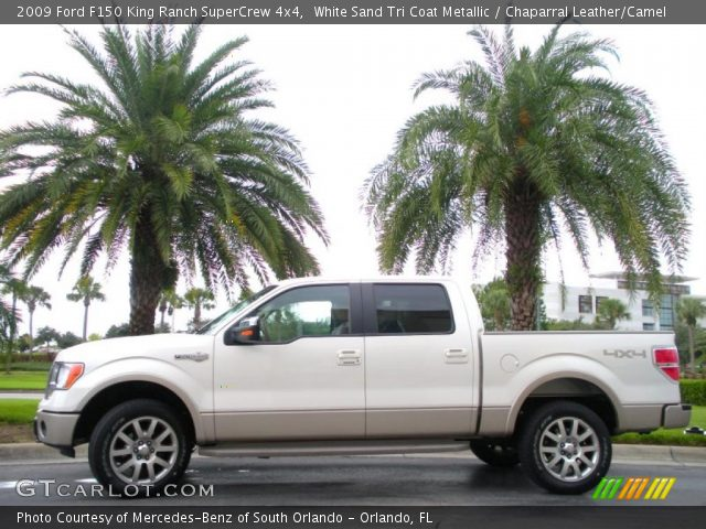 2009 Ford F150 King Ranch SuperCrew 4x4 in White Sand Tri Coat Metallic
