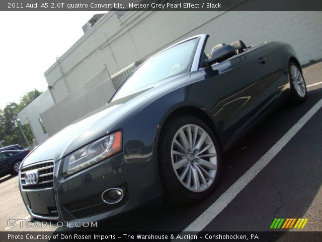 Meteor Grey Pearl Effect 2011 Audi A5 2.0T quattro Convertible with Black