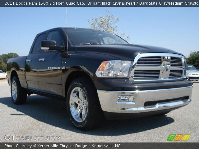 brilliant black crystal pearl 2011 dodge ram 1500 big horn quad cab dark slate gray medium. Black Bedroom Furniture Sets. Home Design Ideas