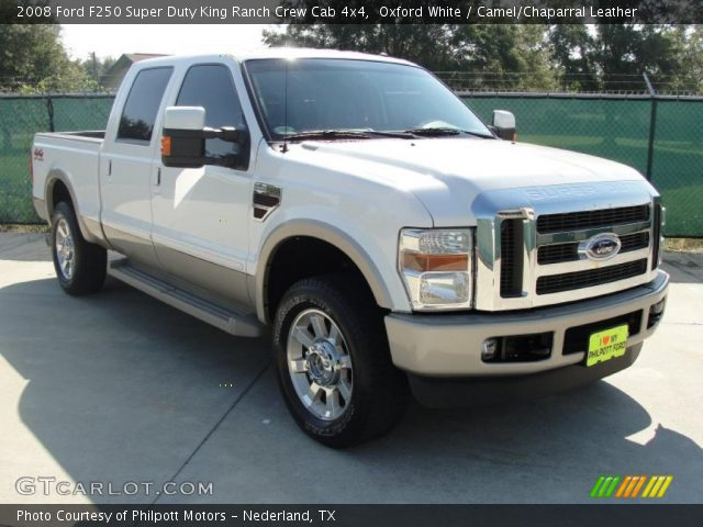 oxford white 2008 ford f250 super duty king ranch crew. Black Bedroom Furniture Sets. Home Design Ideas