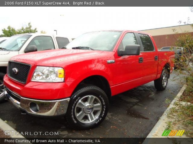 bright red 2006 ford f150 xlt supercrew 4x4 black. Black Bedroom Furniture Sets. Home Design Ideas