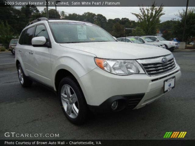 satin white pearl 2009 subaru forester 2 5 x limited. Black Bedroom Furniture Sets. Home Design Ideas