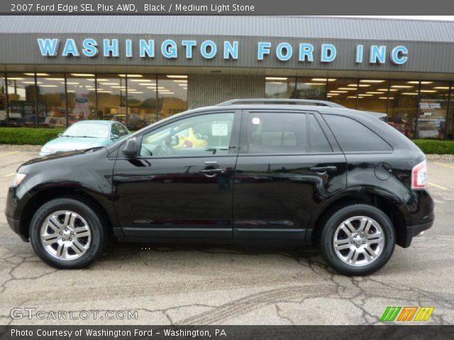 black 2007 ford edge sel plus awd medium light stone interior vehicle. Black Bedroom Furniture Sets. Home Design Ideas
