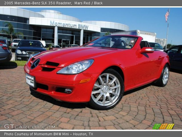 mars red 2005 mercedes benz slk 350 roadster black. Black Bedroom Furniture Sets. Home Design Ideas